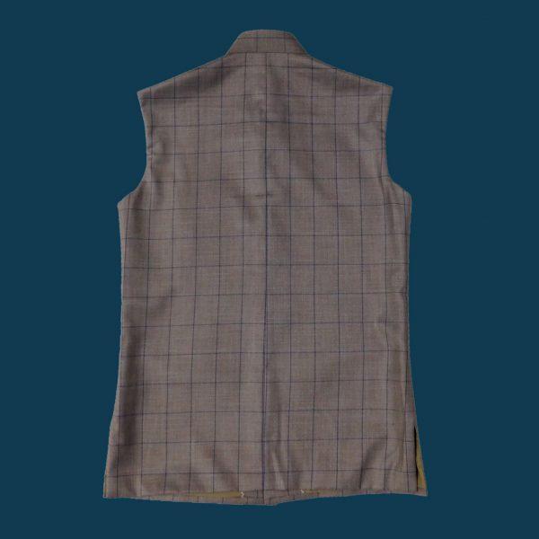 Brown Check Waist Coat