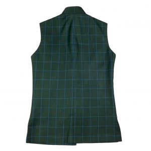 Green Check Waist Coat